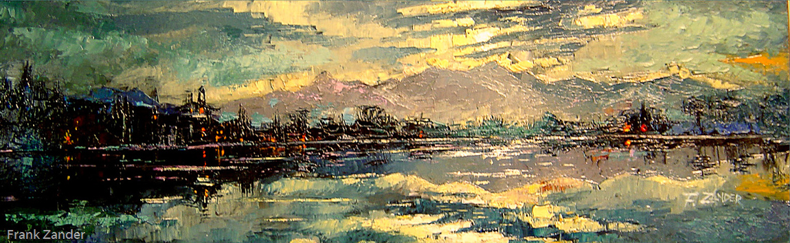 Der Schwarze See 30x100cm
