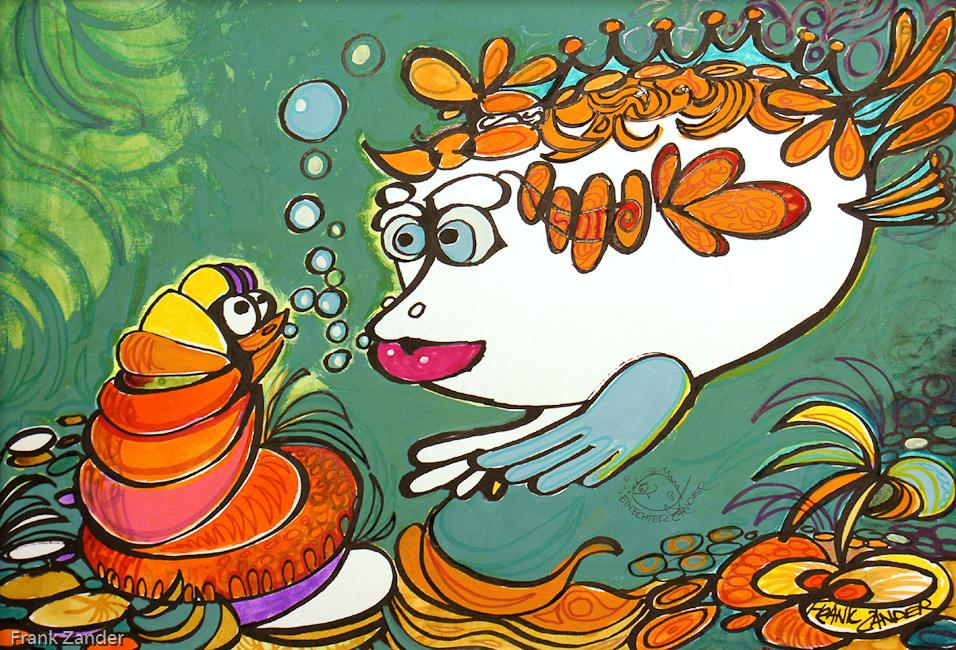Mutter Kind Kunstfisch