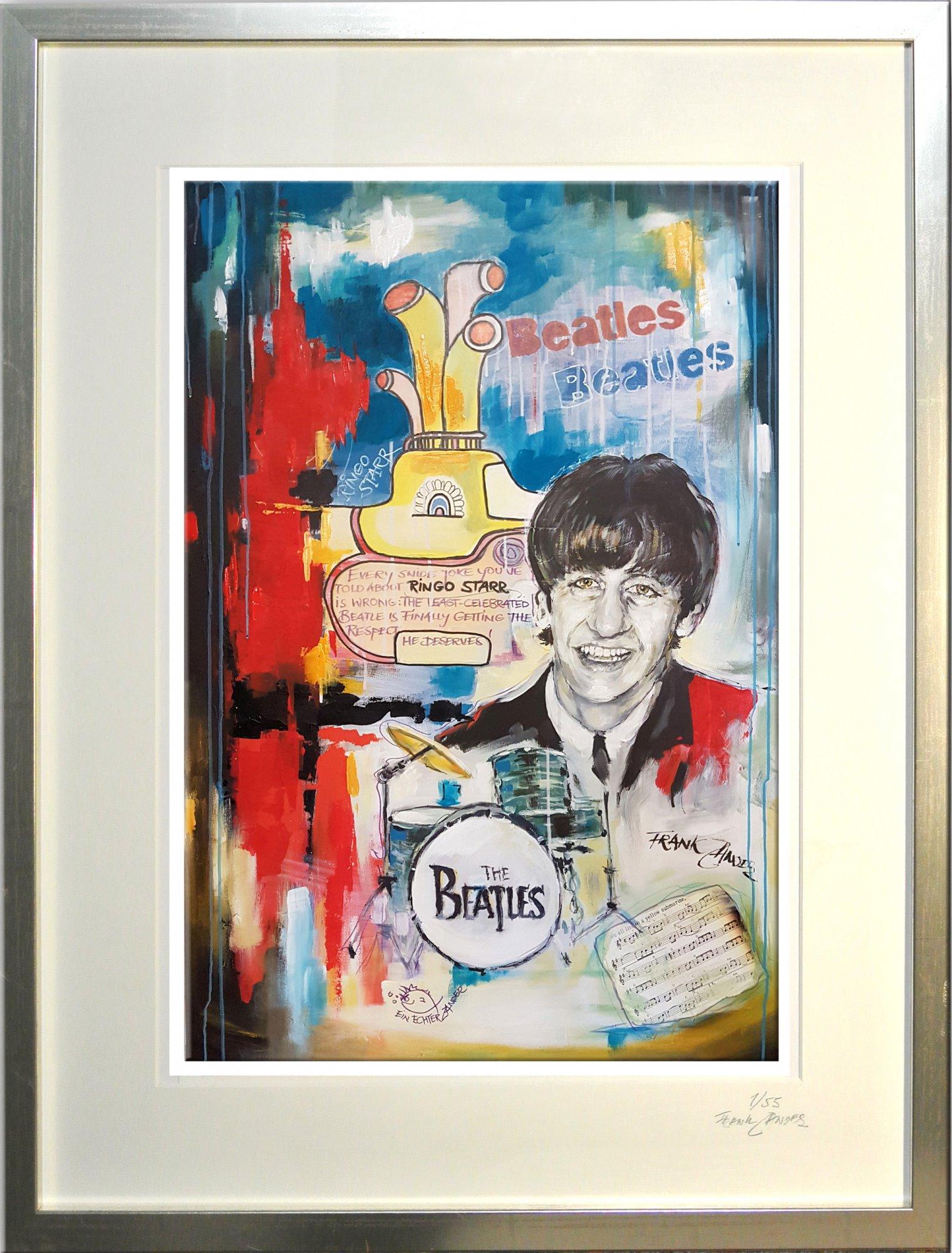 "Kunstdruck mit Rahmen ""Ringo Starr"""