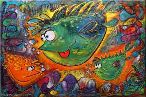Der Große Zander Fisch