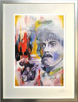 """Kunstdruck mit Rahmen """"George Harrison"""""""
