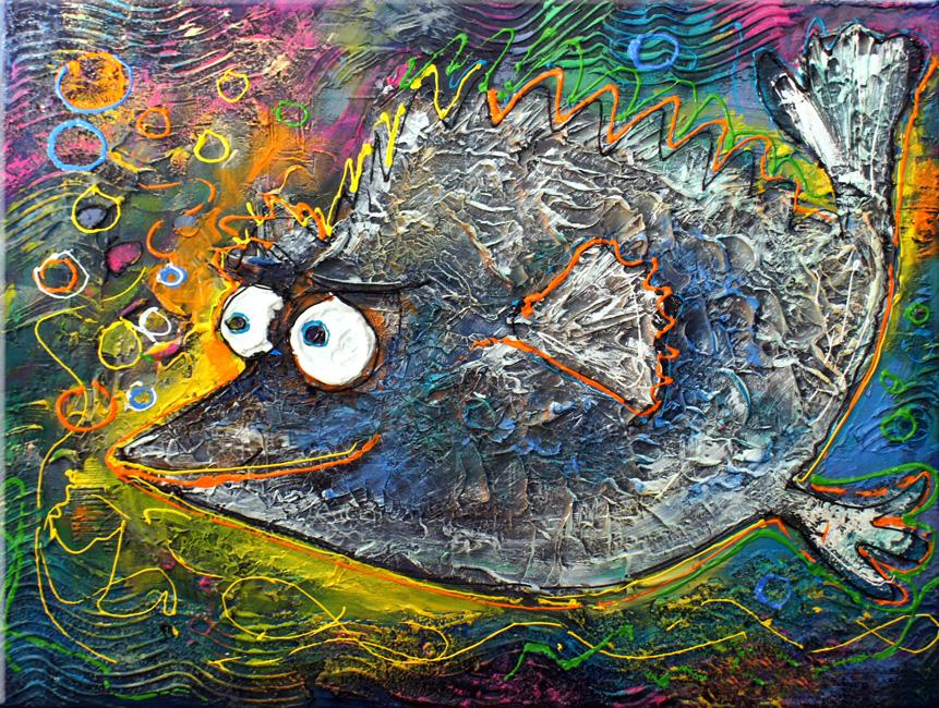 Großer Fisch Leinewand