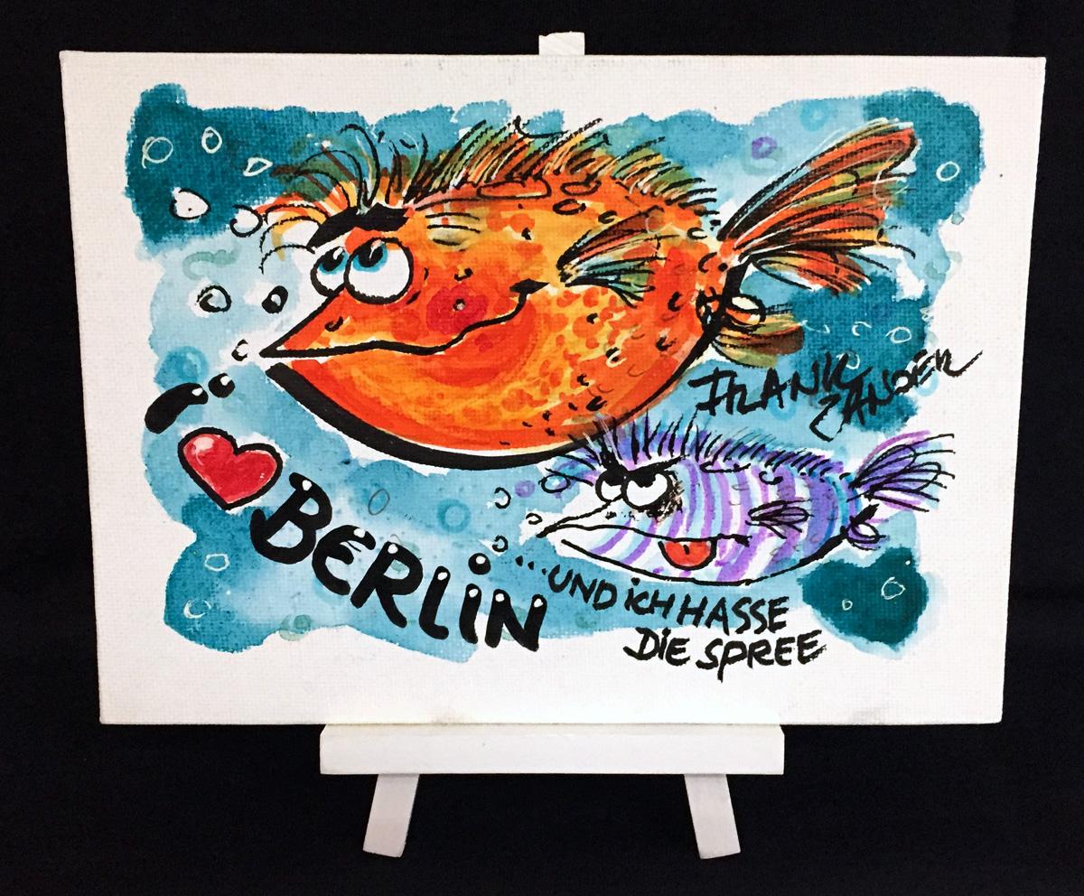 I Love Berlin 3 Staffelei