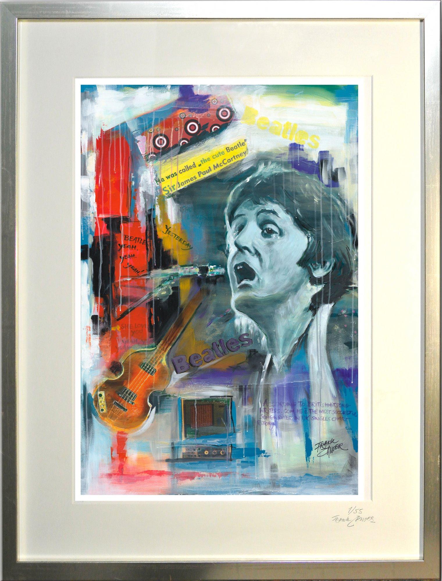 "Kunstdruck mit Rahmen ""Paul McCartney"""
