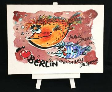 I Love Berlin 1 Staffelei