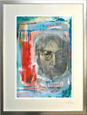 """Kunstdruck mit Rahmen """"John Lennon"""""""