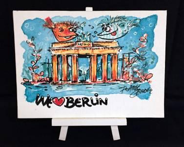 We Love Berlin 1 Staffellei